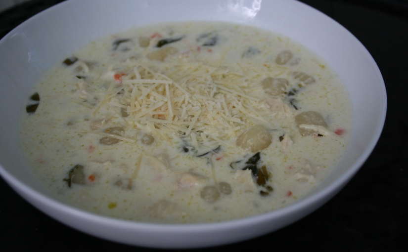 Creamy Chicken Gnocchi Soup